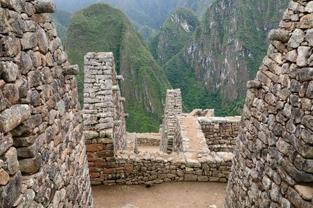 lost city: Peru, Machu Picchu the lost ancient incas town on the  Inka Trail, Lost City