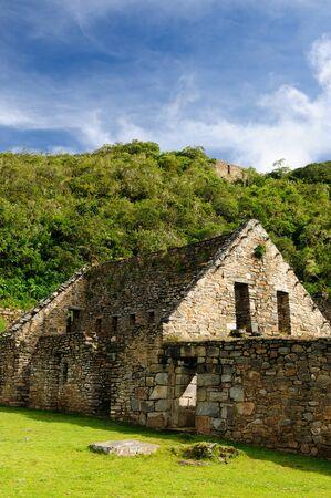 inca ruins: Choquequirao lost ruins mini - Machu Picchu, remote, spectacular the Inca ruins near Cuzco Stock Photo