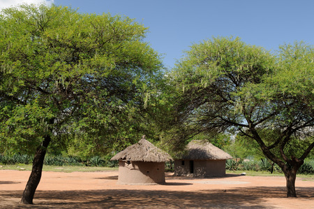 mud house: Traditional round mud house in africa Stock Photo