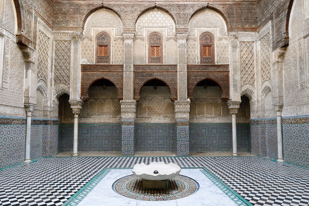 unusually: Detail of unusually ornamented Moroccan architecture Editorial
