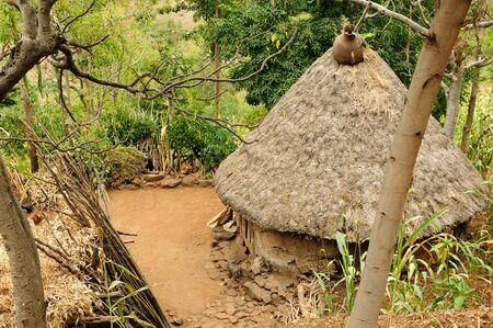 karat: Traditional Ethiopian village Karat near Konso. Ethiopia