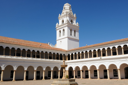 the place is important: South America, The capital city of Bolivia - Sucre has a rich colonial heritage, evident in its buildings, street-scapes and numerous churches. In 1991 Unesco Cultural Heritage site, now its important tourist place. San Francisco Xavier University Editorial