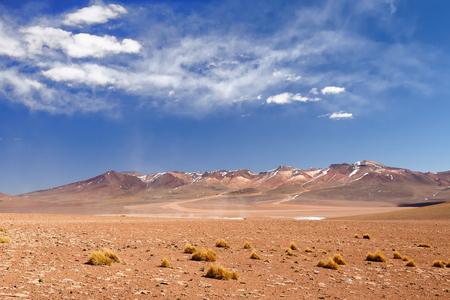 avaroa: South America - The surreal landscape in the Eduardo Avaroa National Reserve of Andean Fauna near Chilean border. The picture present desert Salvador Dali