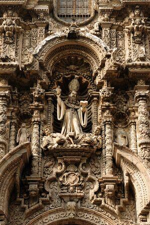 san agustin: South America, Lima - capital of Peru. Cityscape - Plaza de Armas - main squer in town - architecture detail. The picture presents Iglesia de san Agustin