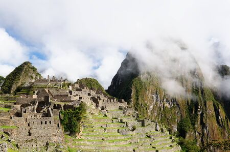 the lost city of the incas: South America, Peru, Machu Picchu the lost ancient incas town on the  Inka Trail, Lost City