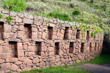 pisac: South America, Pisac (Pisaq) - Inca ruins in the sacred valley in the Peruvian Andes, Peru