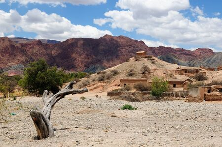 bolivian: South America, Bolivia - the most beautifull countryside near Tupiza. Stone village lost in the mountains.