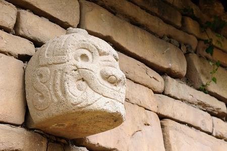 ancash: South America, The Ruins of the Wari (Huari) Culture in Chavin de Huantar a major pre-Inca culture. The site is located in the Ancash Region of Peru. Stock Photo