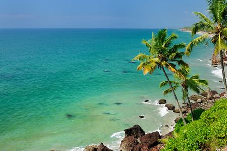varkala: Exotic ocena beach in Varkala. Kerala. India