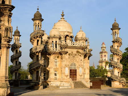 dome of hindu temple: Mausoleum of the Wazir of Junagadh in Gujarat state in India