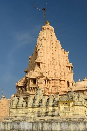 jainism: Jain temples on the holy Palitana top in the Gujarat state in India Stock Photo