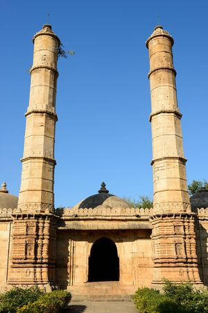 Champaner - Pavagadh Archaeological Park is a historical city in the state of Gujarat. Kevda Masjid mosque.  .Inside the Sahar ki Masjid
