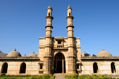 Champaner - Pavagadh Archaeological Park is a historical city in the state of Gujarat. Jami Masjid mosque.