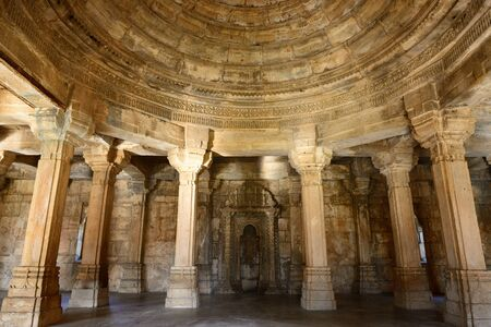 rajhastan: Champaner - Pavagadh Archaeological Park is a historical city in the state of Gujarat. Kevda Masjid mosque.  .Inside the Sahar ki Masjid