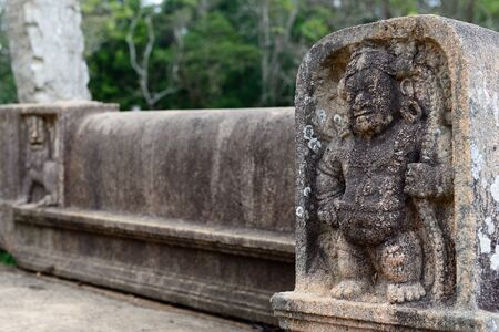 vihara: Anuradhapura ruins, the historical capital city of the Sinhalese Buddhist state on Sri Lanca. Stock Photo