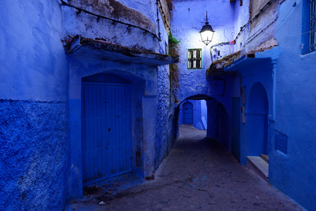 maroc: Blue old city (medina) of Chefchaouen city in Morocco, Africa