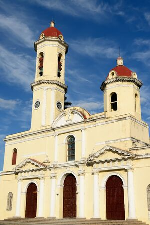 Cathedral on the main square (Plaza de Armas) in the Cienfuegos city on Cuba