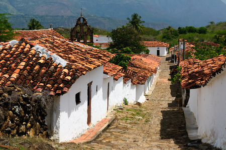 Colombia, Santander, View of the colonial village of Guane, near Barichara city