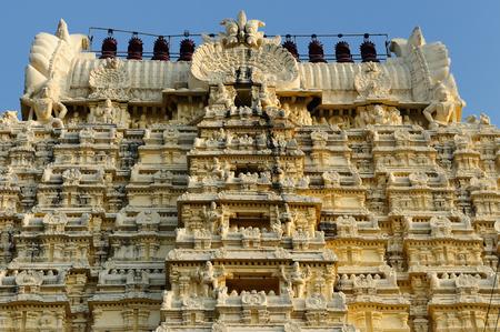 India, Ekambareswarar Temple in Kanchipuram. Siva temple built in 1509 yars. Tamil Nadu