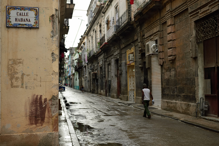 unesco: The old town in the heart of the old part of Havana on Cuba Stock Photo