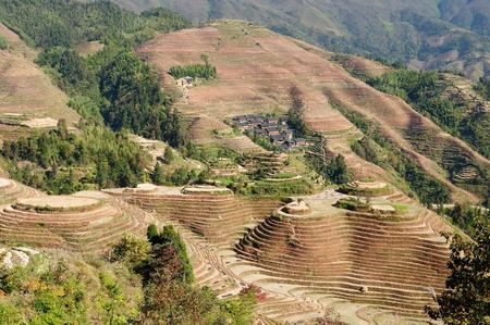 Ancient beautiful rice terraces of Longsheng near Guilin, Guanxi province, China