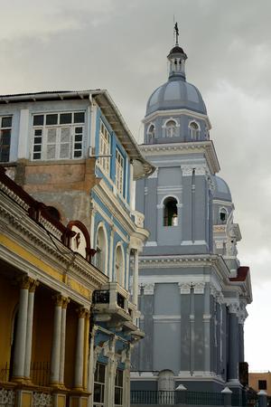 Old Santiago de Cuba downtown architectural detail, Cuba Stock Photo