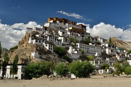 Thiksey buddhist monastery in Ladakh, India Stock Photo