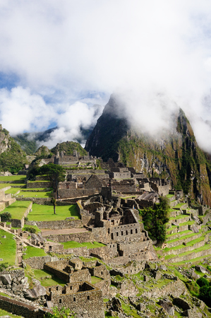 Machu Picchu, sacred city a UNESCO World Heritage Site, Peru, South America,