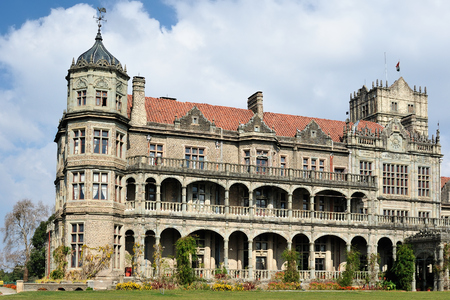 Viceregal Lodge (Rashtrapati Niwas) on Obserwatory Hill in Shimla. It was the residence of the British Viceroy of India. Emblem Editorial