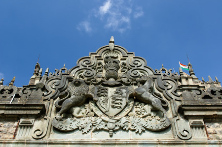 Viceregal Lodge (Rashtrapati Niwas) on Obserwatory Hill in Shimla. It was the residence of the British Viceroy of India. Emblem Stock Photo