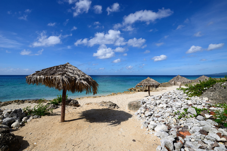 Small cosy Ancon beach being in the vicinity of the Trinidad city on Cuba