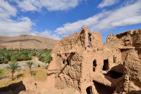 Ancient ruins Sassani Castlein the Garmeh oasis, on the Dasht-e Kavir deserts near the Khur city. Archivio Fotografico