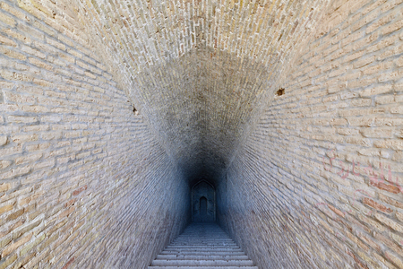Ancient water tank in Shahdad oasis near Dash-e Lut desert.on the Silk Road near Kerman city in Iran