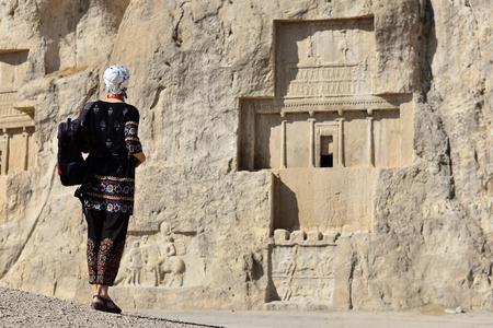 Iran, Prospective tomb of Darius I of Persia in ancient Naqsh-e Rustam necropolis in Pars