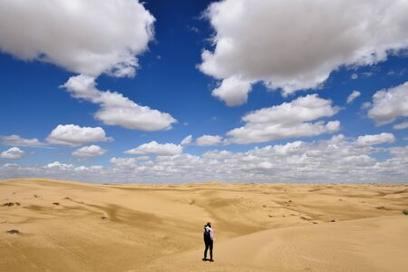 Kazakhstan, Ustyurt plateau, Beautiful dunes desert on the steppe landscapes, close to the Aktau, Mangystau province,