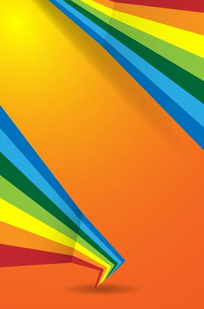 abstract orange background rainbow Vector