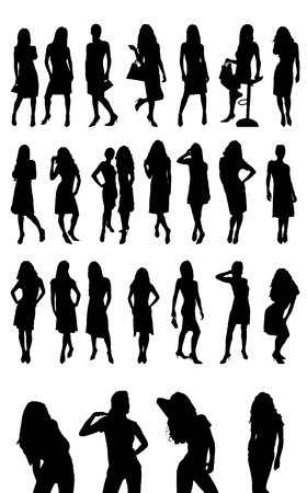 woman fashion silhouettes
