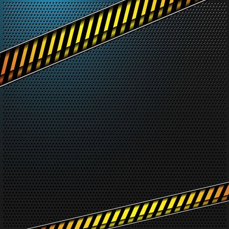 alert ribbon: vector metal background with caution lines Illustration