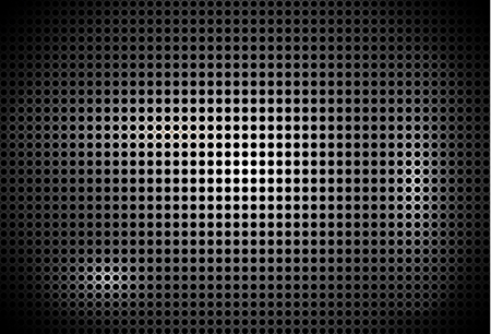 black dots: abstract metal background black dots