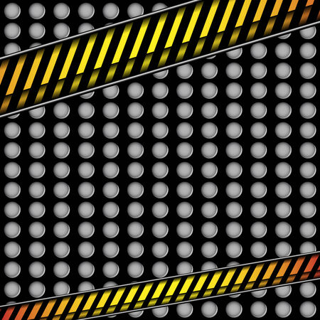 alert ribbon: metal background with caution line