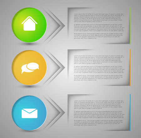 abstract infographic banners Vector