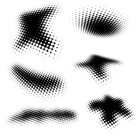 halftone: halftone brushes Illustration