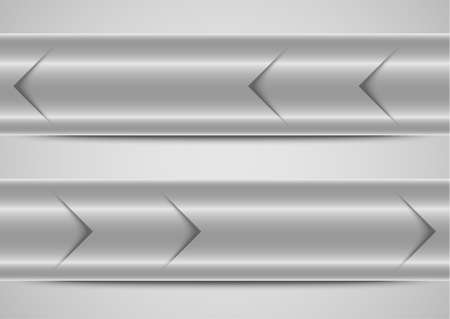 silver banners template background Vector