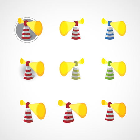 abstract lighthouse icons collection Vector