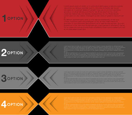 infographic template, abstract colorful banners, tags, labels Vector