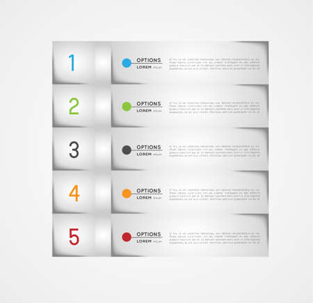 infographic template, banners, design elements, option steps Vector
