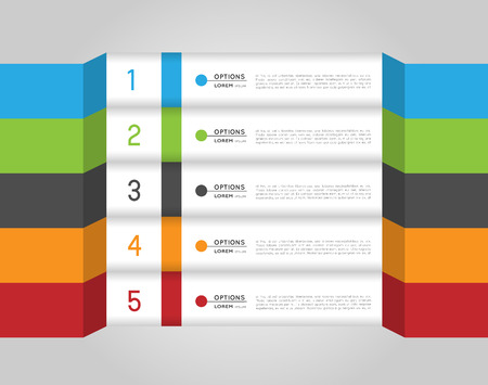 infographic colorful template, banners, design elements, option steps Vector