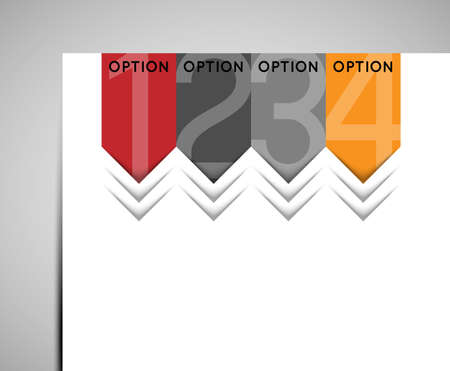 abstract option sign arrows, design element Vector