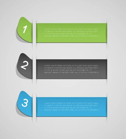 out of order: abstract banners with option steps, design template