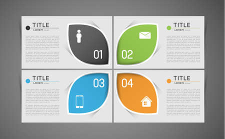 standout: option infographic banners with icons, design template Illustration